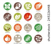colorful icon set   spices ... | Shutterstock .eps vector #245226448