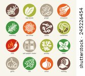 colorful icon set   cooking... | Shutterstock .eps vector #245226454