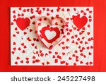 many red and white heart on... | Shutterstock . vector #245227498
