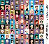 set of people icons in flat... | Shutterstock .eps vector #245228680