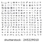 big set of coputer  coputer... | Shutterstock .eps vector #245229010