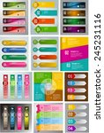 colorful modern text box... | Shutterstock .eps vector #245231116