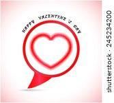 happy valentine 's day... | Shutterstock .eps vector #245234200