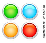 vector set of color glass... | Shutterstock .eps vector #24523450