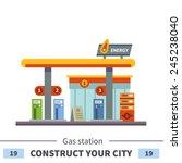 gas station. energy. set of... | Shutterstock .eps vector #245238040