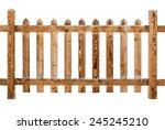 wooden fence isolated on white | Shutterstock . vector #245245210