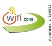 vector sign wifi zone | Shutterstock .eps vector #245245513