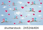 background with birds and... | Shutterstock .eps vector #245246404
