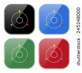 set of multicolored buttons for ...