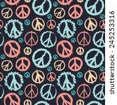 Retro Peace Symbol Seamless For ...