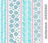 tribal vintage ethnic seamless... | Shutterstock . vector #245253343