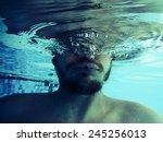 Face With Beard Half Underwater