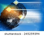 crime scene   biometric...   Shutterstock . vector #245259394