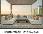chairs and a couch provide a... | Shutterstock . vector #245262568