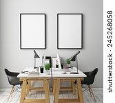 3d illustration of poster... | Shutterstock . vector #245268058