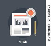 business news | Shutterstock .eps vector #245268526