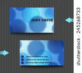 business card template with... | Shutterstock .eps vector #245268733