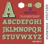 set of retro letters and retro... | Shutterstock .eps vector #245271304