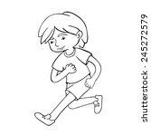run boy contour vector... | Shutterstock .eps vector #245272579