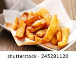 french fries | Shutterstock . vector #245281120