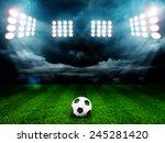 soccer ball on the field of... | Shutterstock . vector #245281420
