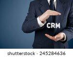 crm  customer relationship... | Shutterstock . vector #245284636