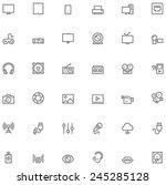 vector multimedia icon set | Shutterstock .eps vector #245285128