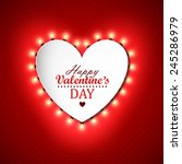 valentines day background with...   Shutterstock .eps vector #245286979
