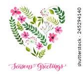 vector illustration of flowers... | Shutterstock .eps vector #245294140