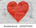 Symbol Of Love Painted On White ...