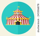 classical circus tent icon... | Shutterstock .eps vector #245306878