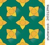 seamless pattern stars  flowers ... | Shutterstock .eps vector #245313946