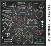 vector set of valentine s day... | Shutterstock .eps vector #245317963