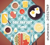 vector breakfast time... | Shutterstock .eps vector #245317969