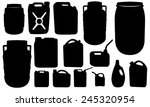 set of different canisters... | Shutterstock .eps vector #245320954