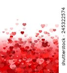 valentine's day background with ... | Shutterstock .eps vector #245322574