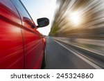 car on the road with motion... | Shutterstock . vector #245324860