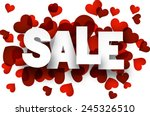 White Sale Sign Over Red Heart...