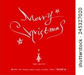 merry christmas   vector  ... | Shutterstock .eps vector #245327020