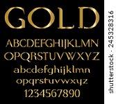 gold font   Shutterstock .eps vector #245328316