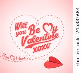 creative valentines day... | Shutterstock .eps vector #245332684