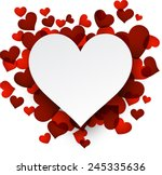 Love Background With Red Heart...