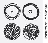 black grunge circles with... | Shutterstock .eps vector #245335780