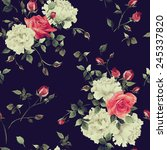 seamless floral pattern with... | Shutterstock . vector #245337820