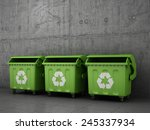Trash Can Dustbins Outside...