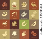 web icons collection   nuts ... | Shutterstock .eps vector #245338444