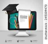 vector education school... | Shutterstock .eps vector #245339470