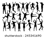 people emotions silhouettes set | Shutterstock .eps vector #245341690