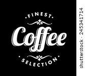 coffee background on chalkboard | Shutterstock .eps vector #245341714