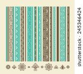 set of vintage elements for... | Shutterstock .eps vector #245346424